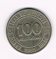 //  PERU  100  SOLES DE ORO  1980 - Peru