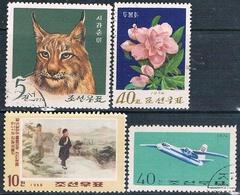 Corea Del Norte 1968 / 74  -  Michel  853 + 1256 + 1279 + 1299  ( Usados ) - Corea Del Norte