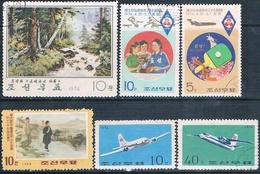 Corea Del Norte 1968 / 77  -  Michel  853 + 1298 + 1299 + 1310 + 1484 + 1485   ( Usados ) - Corea Del Norte