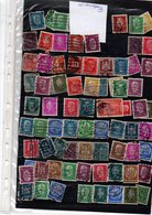 TY  TIMBRES PERFORES DIVERS DE ALLEMAGNE - Usados