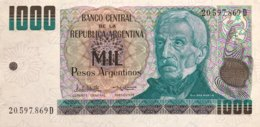 Argentina 1.000 Pesos Argentinos, P-317b (1984) - UNC - Argentine