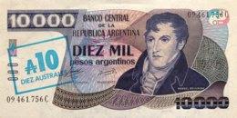Argentina 10 Australes, P-322c (1985) - UNC - Argentinien