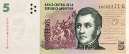 Argentina 5 Pesos, P-353a - UNC - Argentine