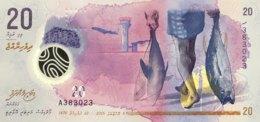 Maldives 20 Rupees, P-27 (5.10.2015) - UNC - Maldiven