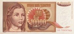 Yugoslava 10.000 Dinara, P-116a (1992) - UNC - Jugoslawien