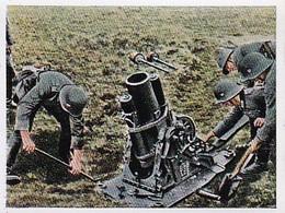 Sammelbild Eckstein-Halpaus Dresden - Die Deutsche Wehrmacht - Mittlerer Minenwerfer Im Feuer - Nr. 59 (40771) - Zigaretten
