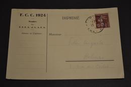 Carte Postale 1933 Convocation Match De Football Club De Colmar FCC 1924 - Football