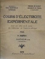 Université Du Travail Charleroi Hainaut Ecole Industrielle Supérieure. 1919. Cours D'électricité. Magnétisme - Machines