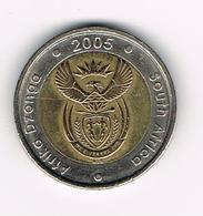 //  ZUID AFRIKA  5 RAND 2005 - Afrique Du Sud