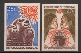 Sénégal - 1970 - N°Yv. 337 à 338 - Education - Non Dentelé / Imperf. - Neuf Luxe ** / MNH / Postfrisch - Senegal (1960-...)