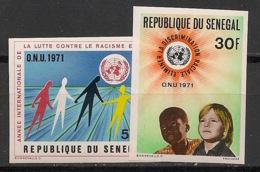 Sénégal - 1971 - N°Yv. 345 à 346 - ONU / UNO - Non Dentelé / Imperf. - Neuf Luxe ** / MNH / Postfrisch - Senegal (1960-...)