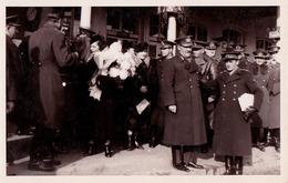 ROMANIA : DEVA ( ? ) : PERONUL GARII / TRAIN STATION - CARTE VRAIE PHOTO / REAL PHOTO POSTCARD ~ 1930 - '935 (ac125) - Rumänien