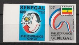 Sénégal - 1982 - N°Yv. 583 à 584 - Philexfrance 82 - Non Dentelé / Imperf. - Neuf Luxe ** / MNH / Postfrisch - Senegal (1960-...)