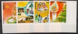 Sénégal - 1987 - N°Yv. 738 à 741 - Noel / Christmas - Non Dentelé / Imperf. - Neuf Luxe ** / MNH / Postfrisch - Senegal (1960-...)