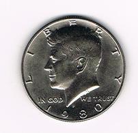 //  U.S.A.  KENNEDY  1/2 DOLLAR  1980 P - 1964-…: Kennedy