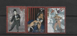 URUGUAY 1996, CARNIVAL, MUSIC, DANCE, ART, SET OF 3 VALUES MNH - Colombia