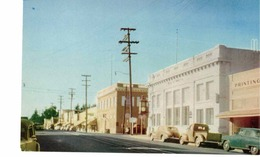 SEBASTAPOL, California, USA, Business District & Stores, Old Cars, 1950's Chrome Postcard - Etats-Unis