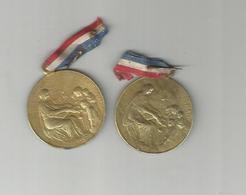2 PETITES MEDAILLES JOURNEE DU SECOURS NATIONAL 1915 - 1914-18
