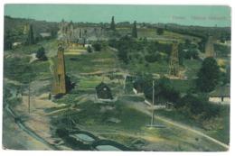 RO 93 - 14191 Prahova, TINTEA, Oil Wells - Old Postcard - Used - 1912 - Romania