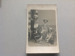 Photo Carte Enfants à La Mer Photographe Ostende - Postcards