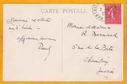 1927 - CP De Colombo, Ceylan, GB, Auj. Sri Lanka Vers Chambéry, France Par Ligne Paquebot Fr. Marseille Yokohama N° 6 - Postmark Collection (Covers)