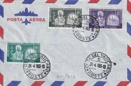 VATICAN 1955 PLI AERIEN - Lettres & Documents