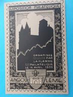 16: ANGOULEME : EXPOSITION PHILATELIQUE Du 14 AVRIL 1935 ,avec Cachet De L'exposition Au Dos, Carte En Bon état - Angouleme