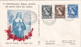 VATICAN 1956 LETTRE ILLUSTREE - Lettres & Documents