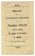 Wez-Velvain. ( Brunehaut ). Vinche Hippolyte. 1923. - Communion