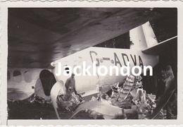 """Photographie Originale De L'accident De L'Hydravion SHORT S.23 C  """"CAPRICORNUS"""" Indicatif G-ADVA à OUROUX (69) En 1937 - Luchtvaart"""