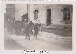 Photographie Originale 56 - BUBRY  Les Pompiers De Bubry Septembre 1942 - Luoghi