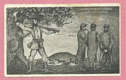 """68 - HARTMANSWEILERKOPF - VIEIL ARMAND - Carte Illustrée """" Garde Jäger Bataillon """" - Feldpost - Guerre 14/18 - 3 Scans - France"""