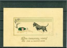 Relief - Gaufrée - Embossed - Prage - Chien - TBE - Hunde