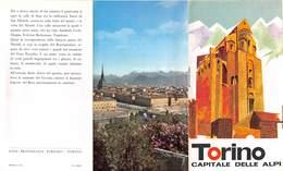 """1103 """"TORINO - CAPITALE DELLE ALPI - IL PANORAMA SULLE ALPI DALLA COLLINA TORINESE"""" DEPLIANTS - Folletos Turísticos"""