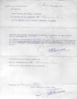 Autorisation De Voyage Gratuit. Consulat De Belgique. Saint-Malo. St-Malo Paris 1940 - Transportation Tickets