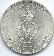 Denmark - Frederik IX - 1960 - 5 Kroner - Silver Wedding Anniversary - KM852 - Denmark