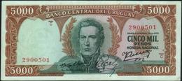 URUGUAY - 5.000 Pesos Nd.(1967) {Series C} AU P.50 B - Uruguay