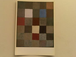 Art  Postcard -  Paul Klee  -  Colour Board - Paintings