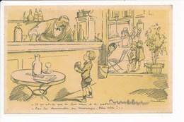Carte Illustrateur Poulbot ( Café / Demande De Mariage / Enfant ) - Poulbot, F.