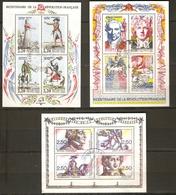 FRANCE BLOC 10 12 13 Bicentenaire De La Révolution Oblitéré - Sheetlets