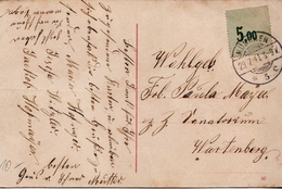 Postal History: Bavaria Interesting Card With Label Instead Of Stamp, Used - Bayern