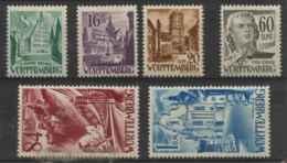 Allemagne Wurtenberg (1948) N 22 A 27 (Luxe) - Wuerttemberg