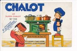 Carte Publicitaire Iluustrateur Béatrice Mallet ( Chauffage Poële Fourneaux CHALOT ) - Mallet, B.