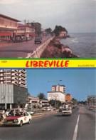 GABON LIBREVILLE Deux Aspects Du Boulevard De L Independance Avec 15 Ans D Intervalle 17(scan Recto-verso) MA193 - Gabon