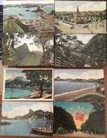 8 Cpa Rio De Janeiro, Botafogo,Corcovado,F.C Du Corcovado,Place 15 De Novembre, Quinta De Bôa Vista,écrites - Rio De Janeiro