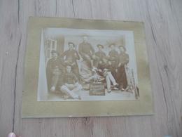 Photo Originale Collée Sur Carton XIXème Chasseurs Alpins 1ère Cie 24ème Au Col 27 X 17.5 Cm - Guerre, Militaire