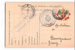 1311 POSTA MILITARE 1° REGG. FANTERIA UFFICIO NOTIZIE X Carmignano Firenze - 1900-44 Victor Emmanuel III