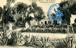 Maroc OUJDA Dar El Baraka Cachet Militaire Poste De Moul El Bacha - War 1914-18