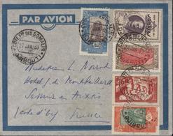 YT 93 97 122 166 145 CAD Cote Française Des Somalis Djibouti 27 1 39 Par Avion Arrivée Semur Cote D'Or 2 2 39 - Côte Française Des Somalis (1894-1967)