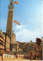SIENA - Il Palio 2 Luglio 16 Agosto - Corteo Storico - Paggi - Lancio Delle Bandiere - Siena